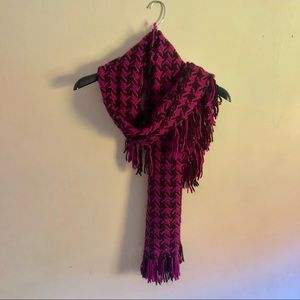 Ann Taylor loft thick purple and black scarf